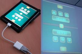 technische Voraussetzungen, Verbindung: Tablet - Beamer